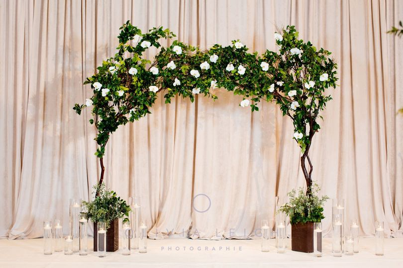 Leafy wedding arch