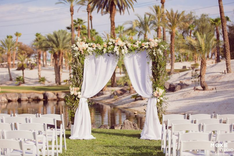 arch with white fabric lawn 51 34633 1573174809