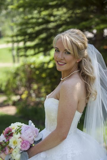 A gorgeous summer bride at the Ritz Carleton in Beaver Creek, CO.