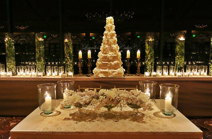 claudia francisco wedding cake