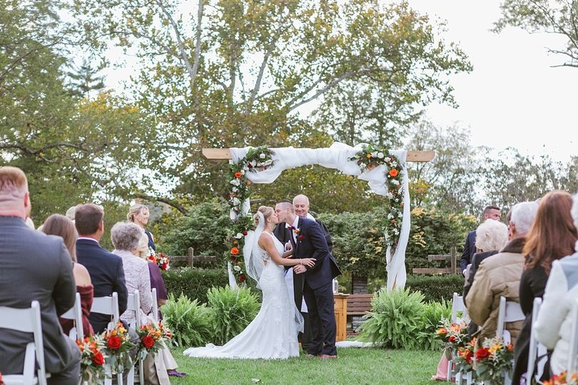 Wedding in Formal Gardens