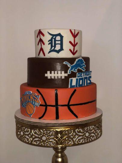 Sporty groom's cake