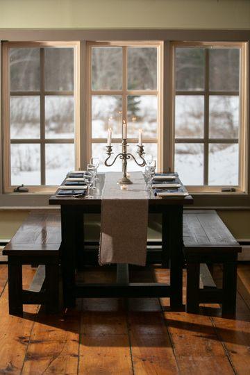 Elegant winter dining room