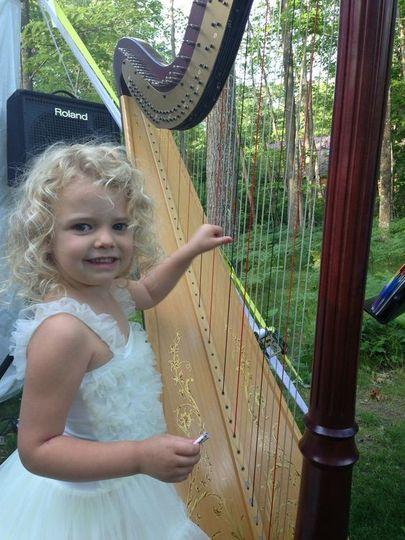 Kid with harp