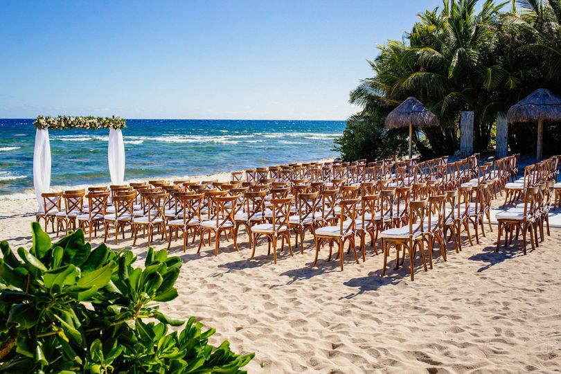 Wedding beach setup