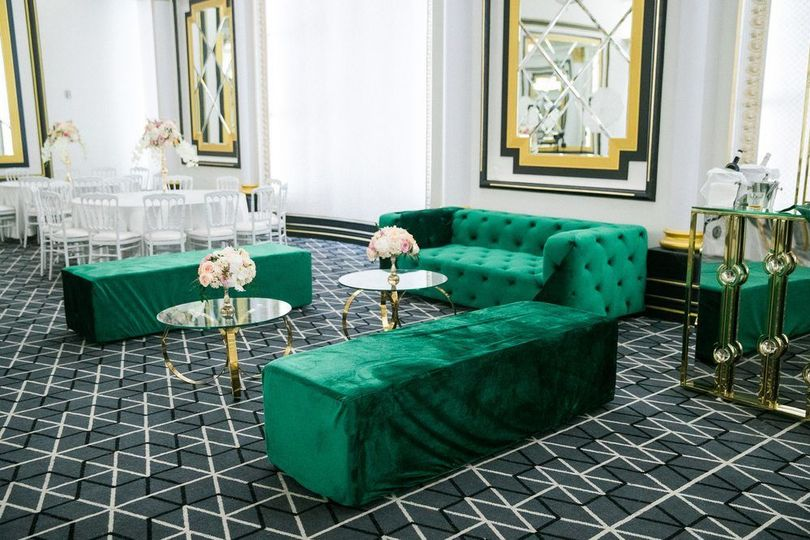 Emerald couches