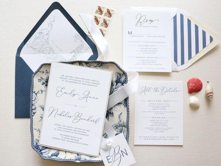 Tmx 1532444256 1fcd9499d40f1039 1532444254 0574bd381edaa858 1532444254183 3 Nautical Wedding I The Colony, Texas wedding invitation