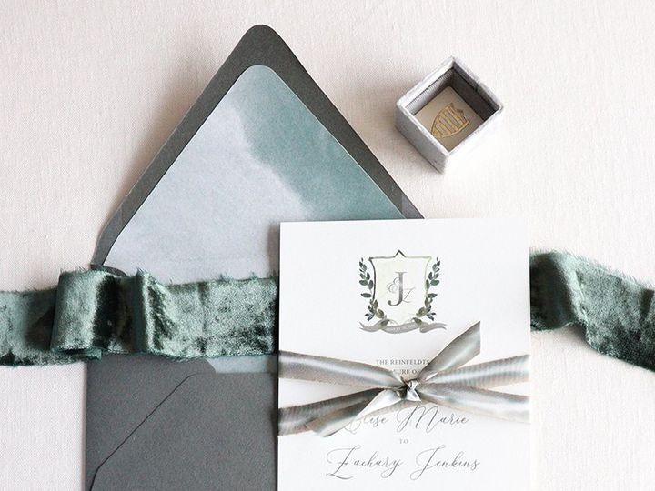Tmx Greenery Watercolor Invitations 51 989633 The Colony, Texas wedding invitation