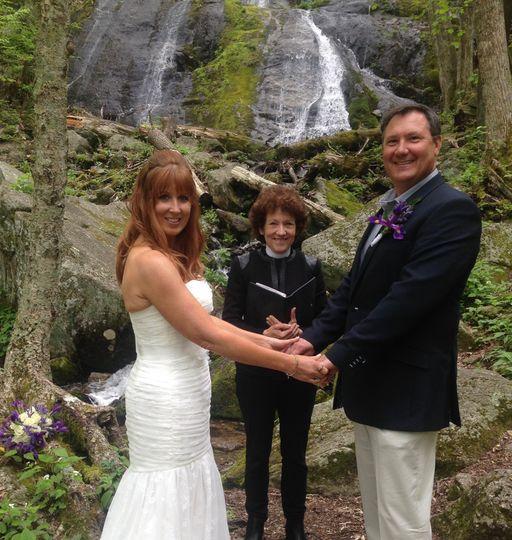 At a waterfall