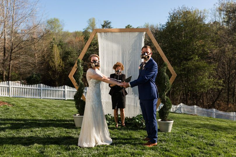 A wedding during Covid