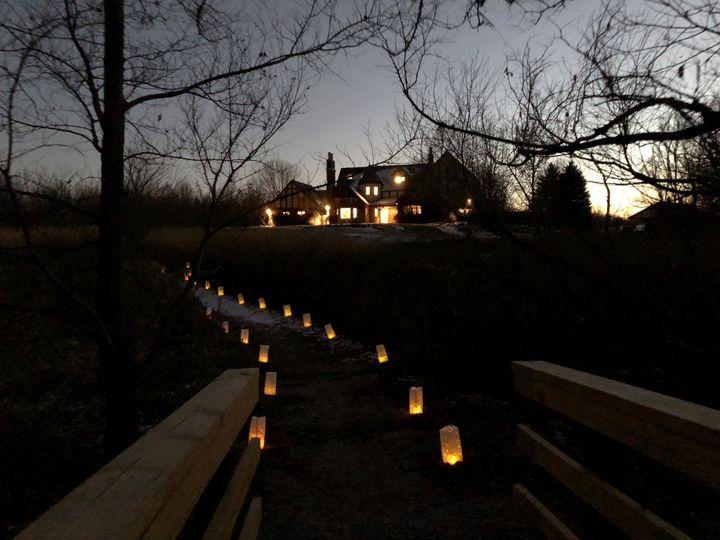 Path at night