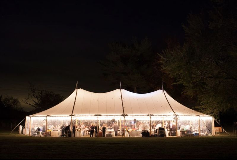 Sailcloth tent lighting