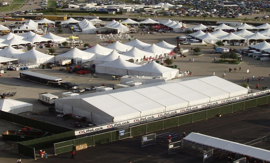 Tents for NASCAR