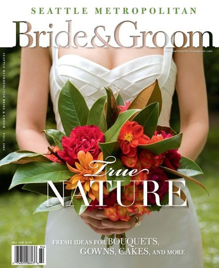 Cover shot from Seattle Metro Bride and Groom