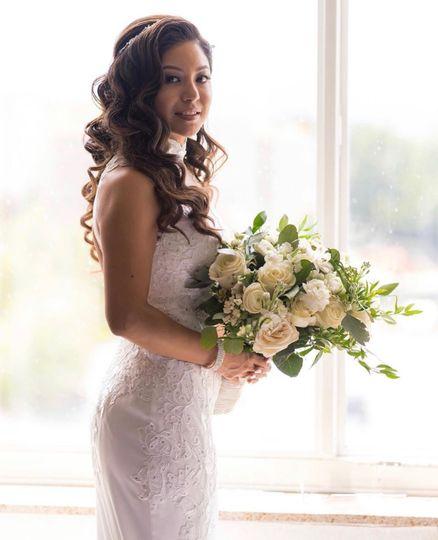 Glam bridal hair & makeup