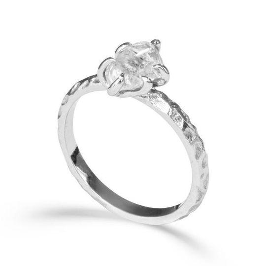 The Ruah - raw diamond ring