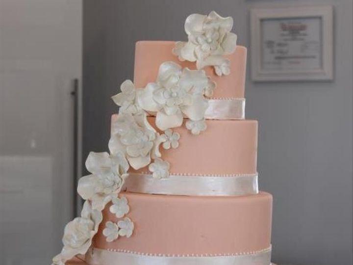 Tmx 1365957786711 Pinkandwhiteflowers Dracut, MA wedding cake