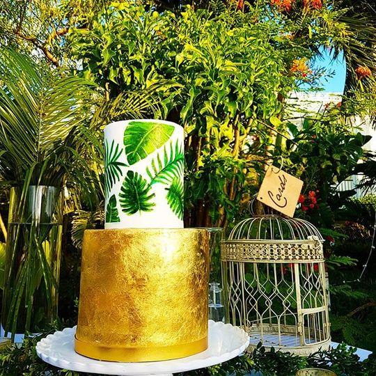 Hand painted & gold leaf set