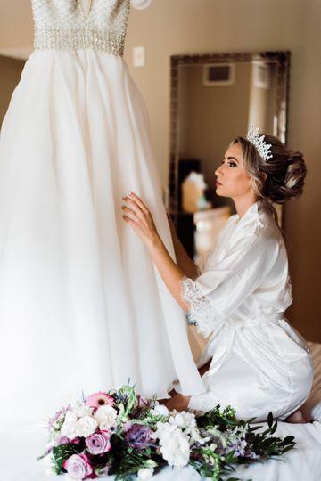 Wedding preparations portrait