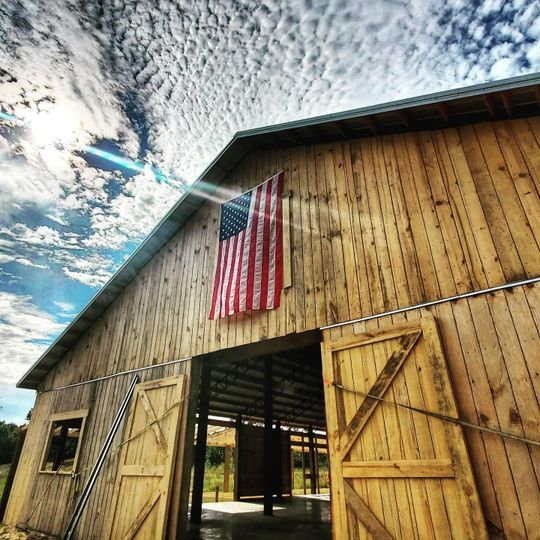 The barn on Flag Day
