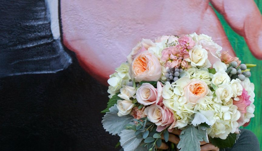 Early winter bridal bouquet