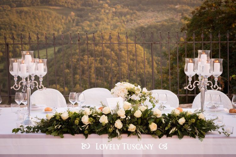 Lovely Tuscany - wedding in Florence - reception al fresco