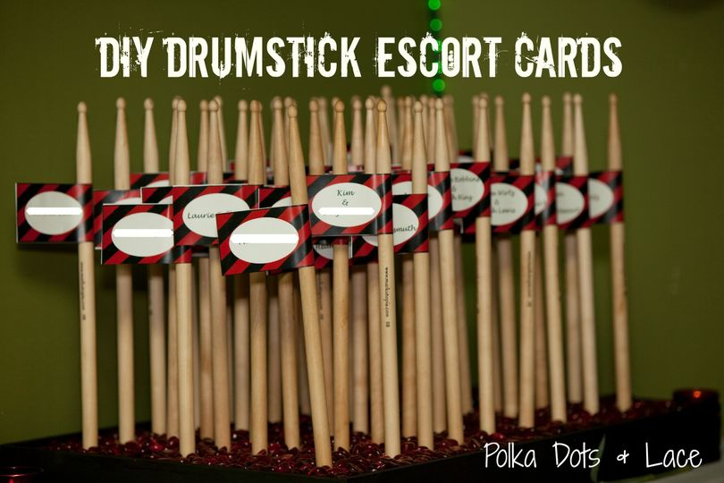 drumstick escort cards