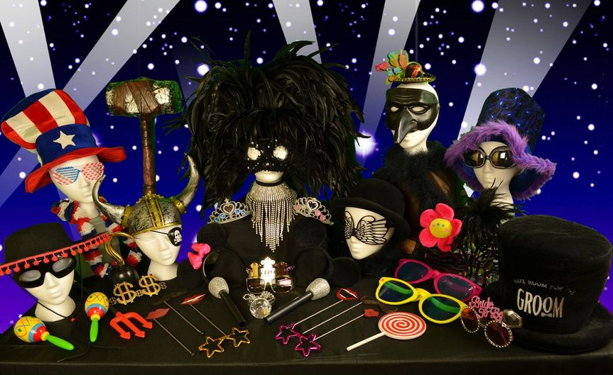 These a just a few photo props that come with the Party Time Pictures Photo Booth Rental