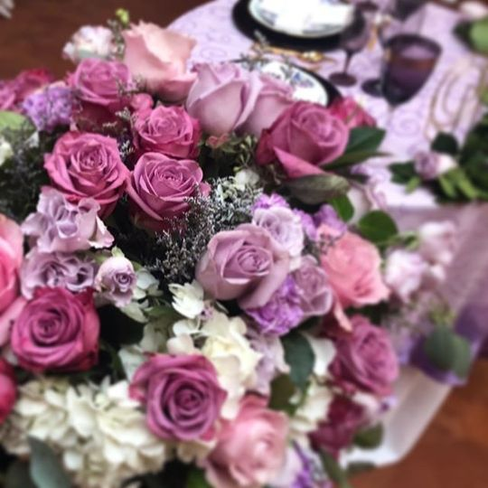 Brittney Kee Floral Design - shades of pink and purple