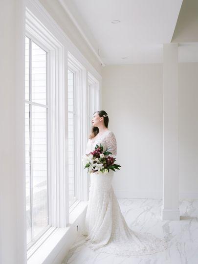 Beautiful bride in event cente