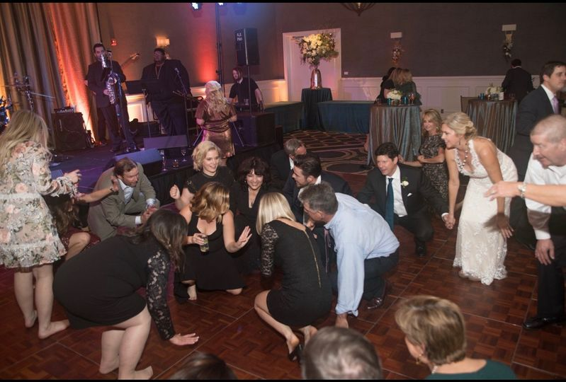 Guests getting down low