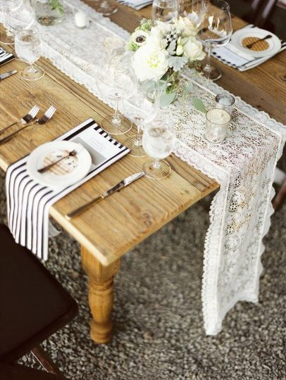 Rustic table and table setting