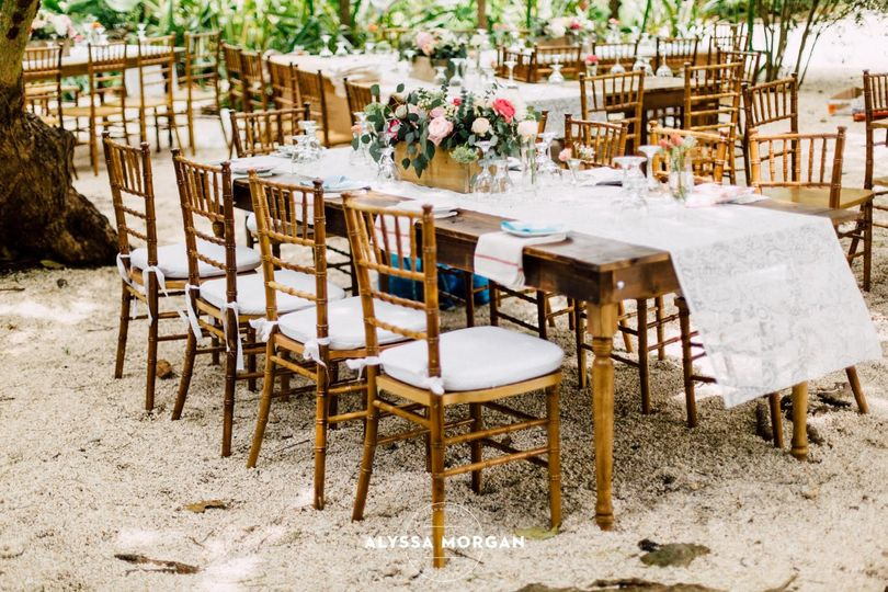 Rustic table and decor