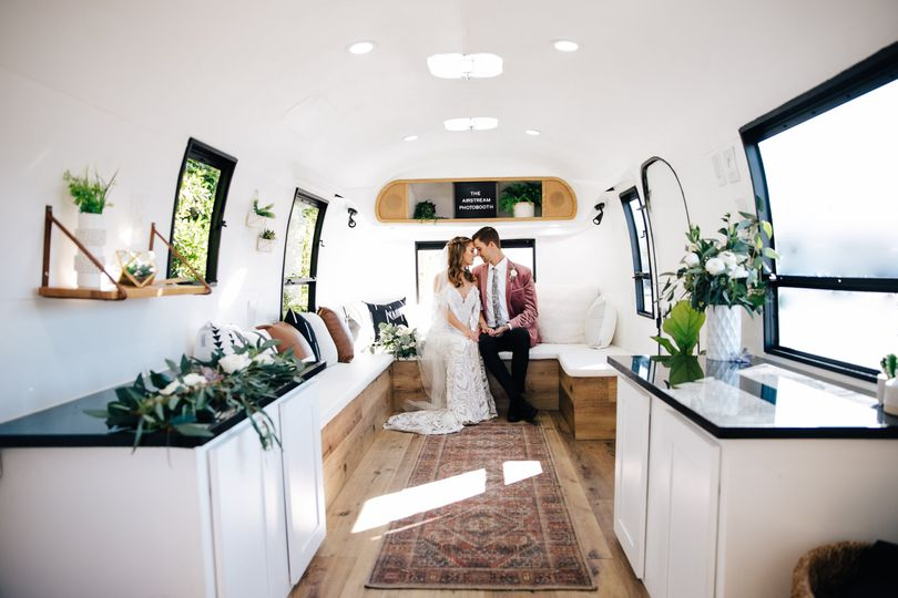 The Airstream Photobooth interior
