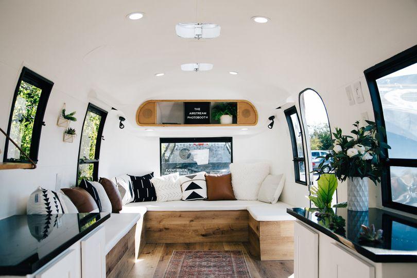 The trailer's interior