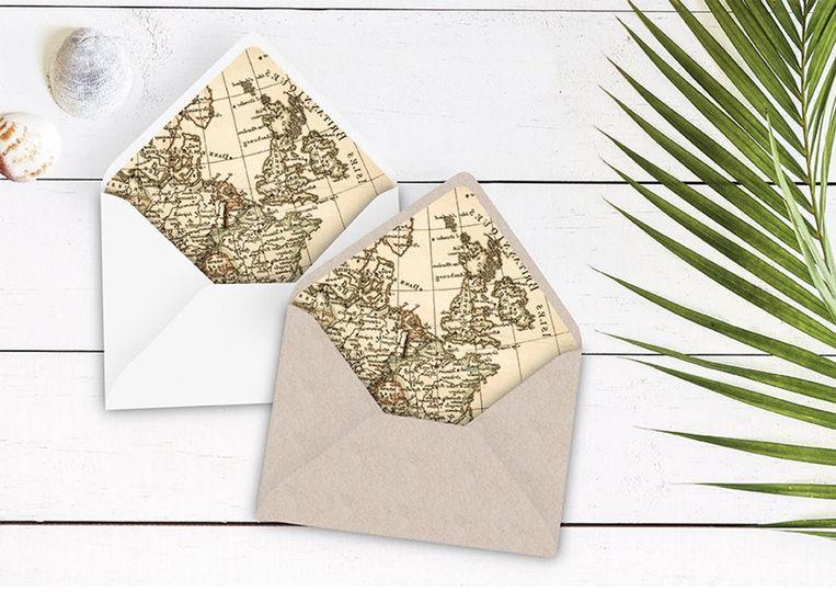 Map envelope liner