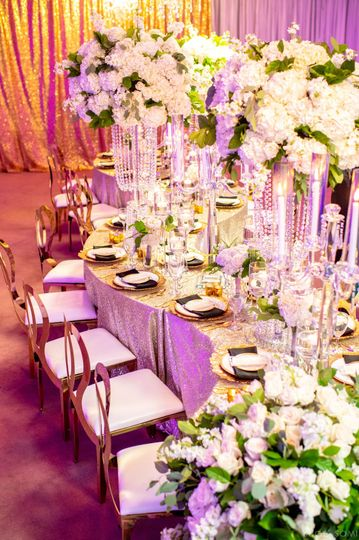 Raised floral centerpieces