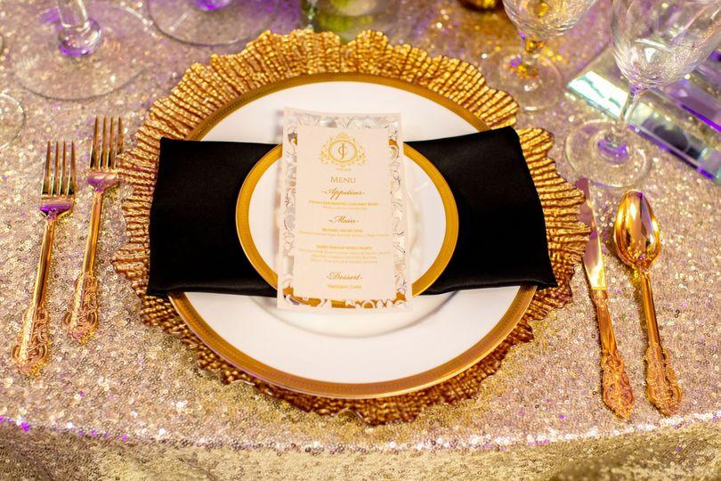 Elegant plate setting