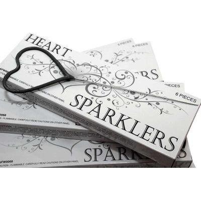 heart shapped sparkler