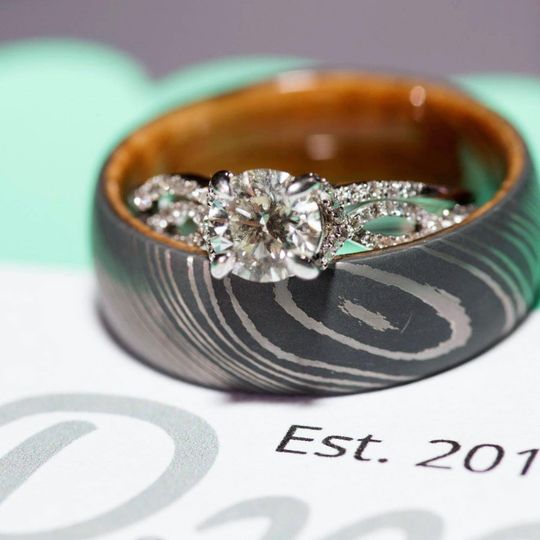 Wedding band and ring