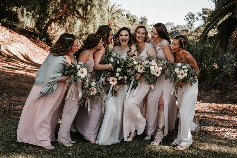 Bridesmaids at Heritage Park in San Diego
