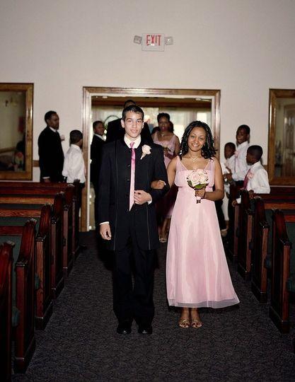 Speeler wedding - walking down the aisle
