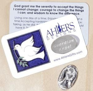 Guardian Angel with Serenity Prayer Card
