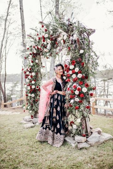 Vintage Flower Arbor Backdrop