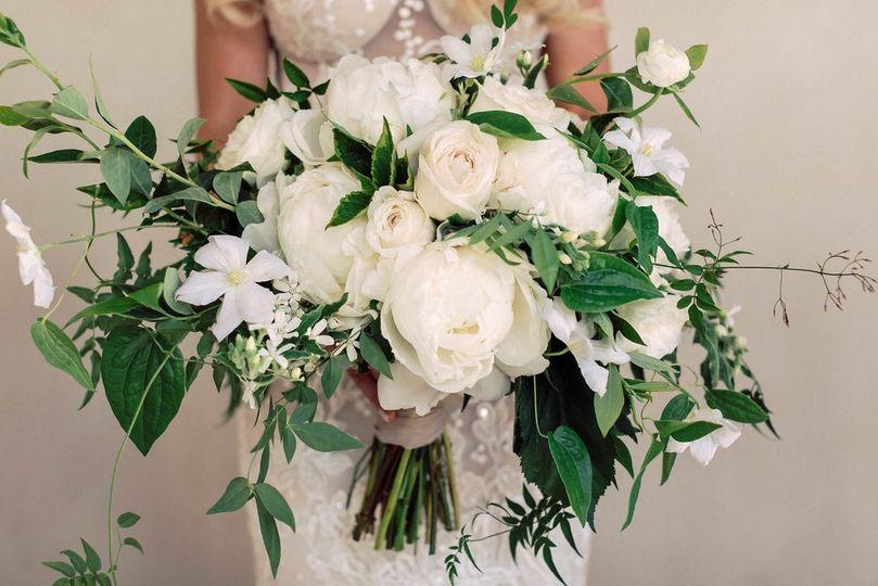White Peony Bridal Bouq