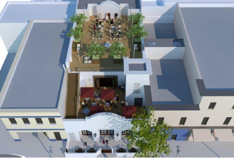 Rooftop and mezzanine