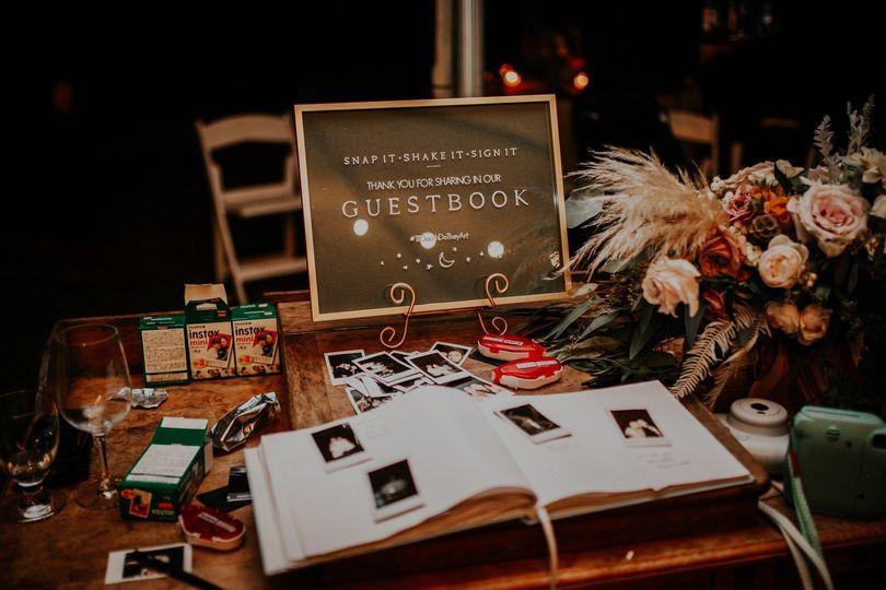 Matte + Frame Guest Book Sign
