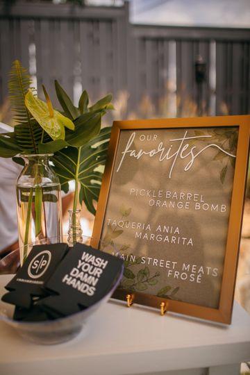 Framed Pressed Cocktail Sign