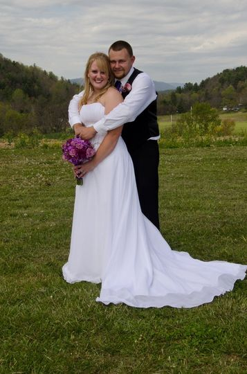 Adam and Kayla had a beautiful, simple family ceremony with all their friends and family around.