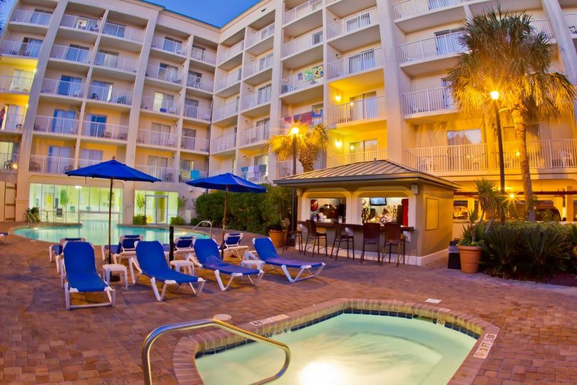 Guests will enjoy our indoor/outdoor heated pool and whirlpools. Enjoy a cold beverage from our...
